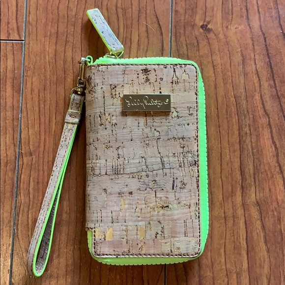 Lilly Pulitzer Kat Cork and Neon Wristlet Wallet